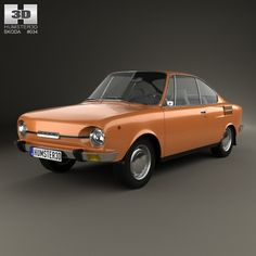 Skoda 110 R 1970 by The model was created on real car base. It's created accurately, in real units of measurement, qualitatively and maximally clos Retro Cars, Vintage Cars, Automobile, Car 3d Model, Unique Cars, Car Brands, Amazing Cars, Old Cars, Motor Car