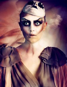 make-up artist Einat Dan; shocked look under mask