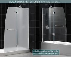 bathtub glass doors frameless folding - Bathtub Shower Doors