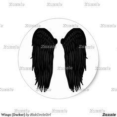 Wings (Darker) Classic Round Sticker