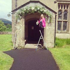Church archway #churcharch #sweetpeafloristry rachel@sweetpeafloristry.co.uk