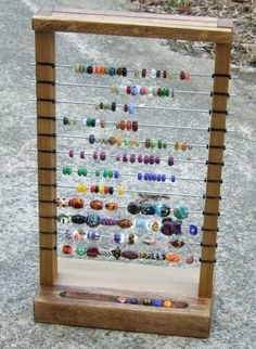 Bead Display for lampwork beads   Okay I know I pinned this before but I really want one of these!