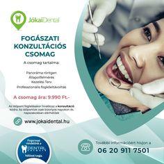 A csomag tartalma:  Panoráma röntgen Állapotfelmérés Kezelési Terv Professzionális fogkőeltávolítás  #Jókaidental #fogorvos #fogászat #fogkőeltávolítás #Budapest  Időpont foglalás: +36-20-911-7501 Dental Health, Dental Care, Root Canal Treatment, Oral Surgery, Dental Implants, Teeth Cleaning, Orthodontics, Teeth Whitening, Pediatrics