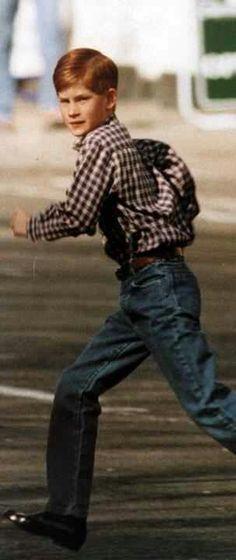 Prince Harry on the run