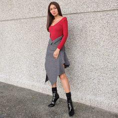 Nadine Lustre Ootd, Nadine Lustre Fashion, Nadine Lustre Outfits, World Of Fashion, Fashion Art, High Fashion, Lady Luster, Philippines Fashion, Flattering Outfits