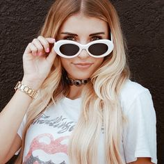 - Nirvana's Kurt Cobain meets Cassie from Skins  - Retro round white sunglasses  - UV400    Check out extra photos in our customer gallery