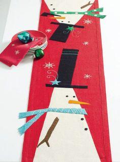 Whimsy Snowman Felt Runner