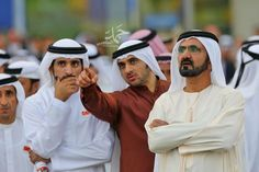 Sheikh Mohammed, Rashid and Hamdan