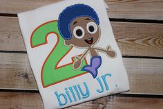 Personalized Bubble Guppies Goby Number Birthday shirt by LenaLaneClothing on Etsy https://www.etsy.com/listing/230557665/personalized-bubble-guppies-goby-number