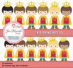 Kit Digital Príncipes III | Jan Marinho Design | Elo7