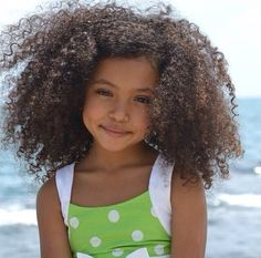 Cute curly fro at the beach... keep perfectly moisturized. Silk & Honey Mist @ forever-silk.com