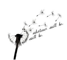 "Now add my wording in the typewriter font that says ""Let go, let God"" with a soft color mixture behind the dandilion and you've got my 2nd next tattoo."