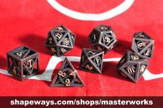 Deathly Hallows Dice by gythawen on Shapeways, the 3D printing marketplace