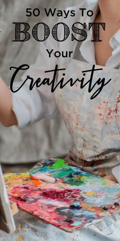 50 Creative Things To Do When You Aren't Creative Do you admire the creative women you know? Want to find creative things to do? Boost creativity by trying any of these 50 ideas today! Crafts To Do, Easy Crafts, Arts And Crafts, Planners, Kaya, Eat Better, Boost Creativity, Creativity Quotes, Things To Do When Bored