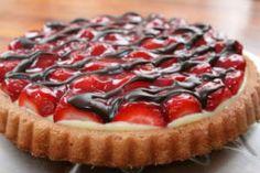 gyümölcstorta Creative Cakes, Nutella, Cake Recipes, Cheesecake, Pie, Baking, Food, Garden, France