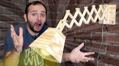 Faça uma luminária retrátil de palitos! - YouTube