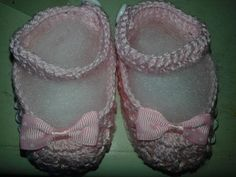 Sapatinhos de croche para meninas