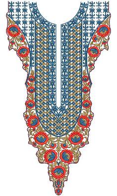 10265 Neck Embroidery Design
