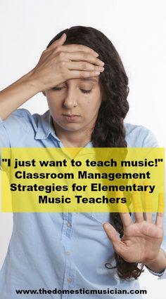 classroom management elementary music