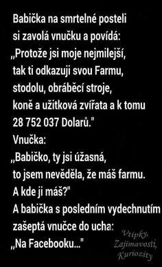 Aneb děkuji, babičko, za krásnou virtuální farmu. (zdroj: facebook.com)