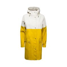 Ilse Jacobsen True Rain raincoat - cyber yellow milk crème