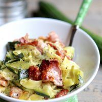 Courgettes Carbonara »