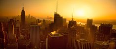 Manhattan sunset from Top of the Rock