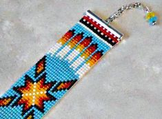 Your place to buy and sell all things handmade Jewelry Patterns, Beading Patterns, Beading Ideas, Seed Bead Necklace, Seed Bead Bracelets, Seed Beads, Native American Design, Native American Beadwork, Bear Paw Print