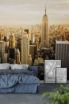 Manhattan sunset Wall Mural - Wallpaper