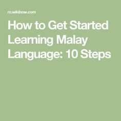 26 Best Malay Language images in 2019 | Early education, Kids