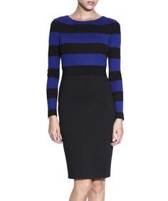 Blue+&+black+striped+dress+by+NISSA+on+secretsales.com