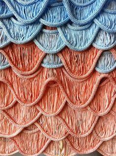 Sarah Mazza, BA Surface Textiles, knit sample.