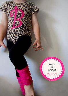 Applique Baby Toddler Girls Leotard and Custom by MiniAndShrub, $68.00