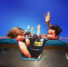 Woody and Dan on a roller coaster<<<< correction... Best picture ever...
