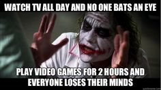 TV vs Video Games; I REALLLLY hate this!