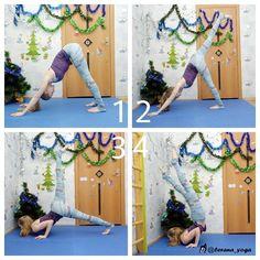 My favorite and the easiest way to get into chin stand!   Steps:  1 ☆Adho Mukha Svanasana 2 ☆lift one leg up 3 ☆chaturanga variation  4 ☆chin stand!♡
