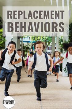 Ideas for incorporating replacement behaviors in the classroom! Grab this free reference chart from Positively Learning #classroom management #replacementbehaviors