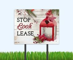 Look and Lease winter bandit signs are now available at the Sprout Shop…