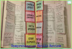 Free! Comprehension foldable for review.  Teaching With a Mountain View: Fiction Comprehension