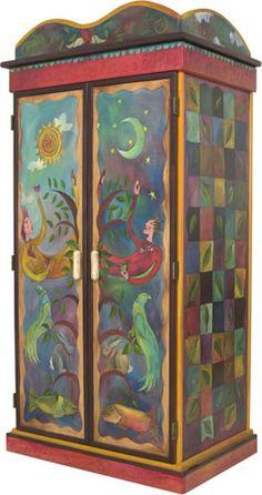 Sticks Armoire ~ Des Moines, Iowa Based Company ~ Fabulous Hand Painted Art  Furnishings   Fabulous!!! | House Ideas | Pinterest | Des Moines Iowa, ...
