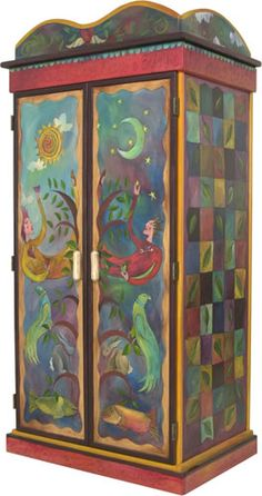 I saw furniture by Sticks when on holiday in Fort Lauderdale a few years ago in a fab shop called The Seldom Seen Gallery. Their stuff is SO inspirational! I adore the colours and style of painting, very dreamlike :-)