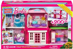 Great holiday gift idea! The Barbie Mega Bloks Build n Play Fab Mansion is easy to assemble and fun for hours of creative play!