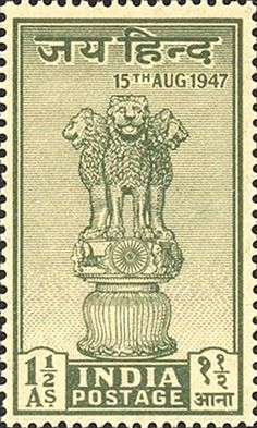 http://jainismus.hubpages.com/hub/Indian-Philately-First-Three-Stamps-of-India-after-Independence