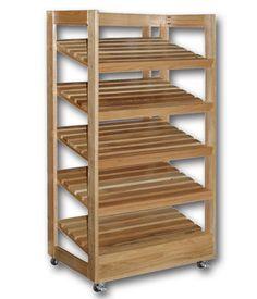 5-Shelf Bakery Bread Rack | Wood Shelf | Rolling Bakery Cart