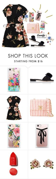 """""""Hello!, GIVEAWAY from Casetify, link in description"""" by gabyidc ❤ liked on Polyvore featuring Miu Miu, Chanel, Casetify, NARS Cosmetics and Les Néréides"""