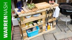 Looking for a DIY garden furniture project? Give my pallet BBQ station a go. It's easy to construct with loads of cool ideas. Outdoor Pallet Bar, Outdoor Grill Area, Outdoor Grill Station, Outdoor Bars, Outdoor Ideas, Backyard Ideas, Diy Bbq Area, Best Outdoor Grills, Diy Grill