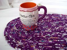 $24 #Purple #Mosaic #Table #Runner  #Handmade #Purple #table #topper by #Wexford #Treasures