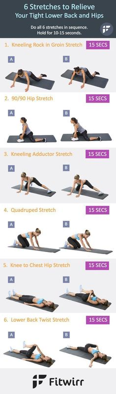 6 easy stretches to loosen up your tight lower back and hips. Static stretching can help reduce lower back pain and open up your tight hips. Perform all 6 stretch poses in sequence and hold for 10 to 15 seconds each. *** You can get additional details at #TipsToRelieveBackPain