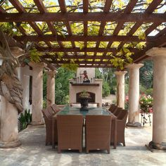 Nice and Great Al Fresco for Outdoor Dining Set Up Al Fresco Style On Your Outdoor Patio Dining Ideas Pergola Shade, Pergola Patio, Diy Patio, Patio Ideas, Pergola Plans, Pergola Kits, Garden Ideas, Vinyl Pergola, Cedar Pergola
