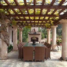 Nice and Great Al Fresco for Outdoor Dining Set Up Al Fresco Style On Your Outdoor Patio Dining Ideas Outdoor Dining Furniture, Patio Dining, Dining Room, Dining Area, Farmhouse Furniture, Patio Table, Pergola Patio, Diy Patio, Patio Ideas